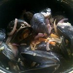 Mussels at Les moules