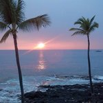 Sunset from the Kona Reef Condo we stayed in was beautiful!