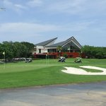 Clubhouse and practice green