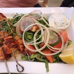 Chicken souvlaki (kebab)