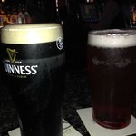 My Guinness and my wife's larger and black ... yum
