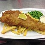 Jumbo cod, Chips & peas