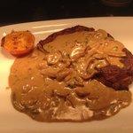 Rib-eye steak & Diane sauce