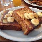 Banana and nutella french toast... Lovin it!