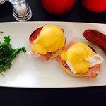 Eggs Benedict. The most eggscellent breakfast going :-)