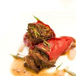 Olorosso braised Oxtail stuffed piquillo peppers