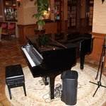 Piano in Lobby, which  they play at night
