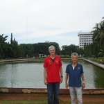 Artificial ponds in the surroundings of the National Monument in Jakarta