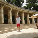 Main pool area of Amanjiwo Hotel in Borobudur