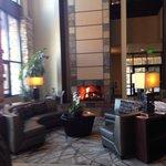 Lobby fireplace beautiful