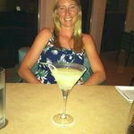 My daughter with her ginger martini