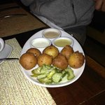 Hush Puppies with home made pickles