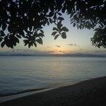 Pôr-do-sol na praia de Cacupé, em frente ao hotel
