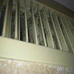 Filthy, moldy air vents