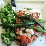Bruschetta Chicken and Asparagus with Broccoli (no rice pilaf)