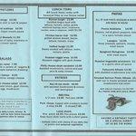 Romans menu inside 2014