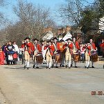 fife and drum corps marching to merchant square
