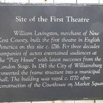 site of 1st theater, plays happen here