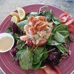 Seafood salad with lemon dressing