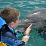 """Kissing """"Chuck"""" the dolphin"""