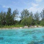 Lagoon - shallow water near at motu