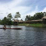 Canoe to the lodge