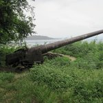 Old US Navy cannon from WW2