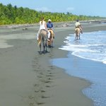 riding the black sand beaches