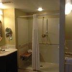 ADA-compliant shower stall