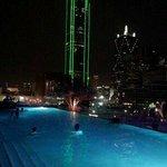The heated infinity pool