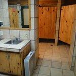 Women's bathroom.