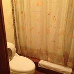 The bathroom/shower