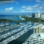 View of Marina from Ilikai Penthouse