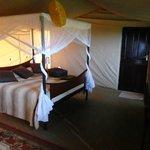Bedroom in tent