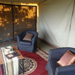 Front room in tent