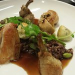 Game hen & wild rice