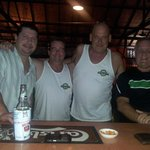 Having beers with Joe,Gregg and Larry at the Beer Gardens