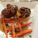 Tournedos de bœuf rosini, sauce foie gras, avec gratin !