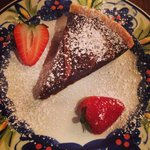 Chocolate and toffee tart