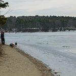 frozen Walden Pond