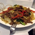 Singapore noodles with beef