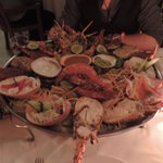 Our monster seafood platter (veggies on the side)