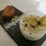Amazing truffle and tea pannacotta