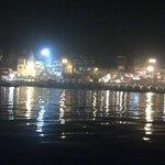 Night time Ganga Ghat view