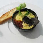 Soft scrambled eggs with truffles
