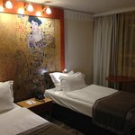Bed with Gustav Klimt