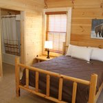 This cabins 2 en suites with full kitchen and sitting area!  www.buffalotrailcabins.com