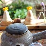 ароматный чай и  десерт