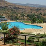 Poolside hill view