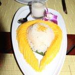 riz coco mangue... restaurant lotus de l'hotel